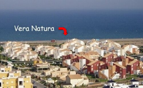 View at the Vera Natura naturist urbanisation